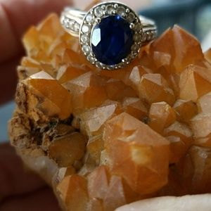 Sapphire and Sterling ring